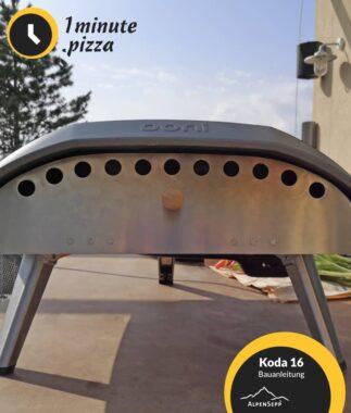 Ooni Koda 16 Bauanleitung für Ofenklappe Pizzaofen